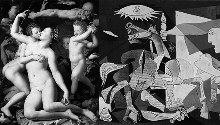 Explanations of famous paintings: Allegory of the triumph of Venus and Guernica