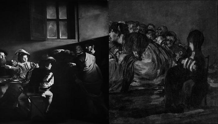 Explicaciones de cuadros famosos: La vocación de San Mateo y El aquelarre